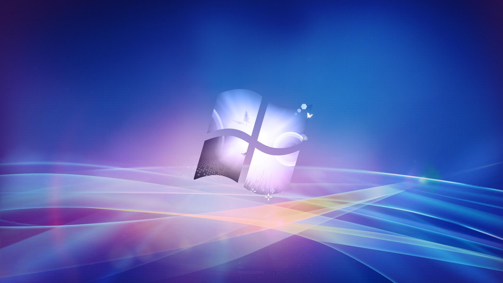 Windows徽標,創意設計的背景 電腦桌布   1920x1080 桌布下載   HK.HDWALL365.com