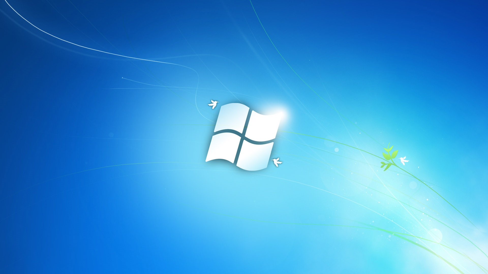 Windows 7的藍色經典風格 電腦桌布 | 1920x1080 桌布下載 | HK.HDWALL365.com Windows 7 Classic Wallpaper